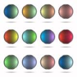 knappar färgade mång- Arkivfoton