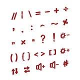 Knappar för ett dator- eller telefontangentbord Isometriska symboler Vektor 3d som modellerar symboler vektor illustrationer
