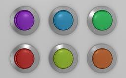 knappar för exponeringsglas 3d stock illustrationer