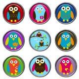 knappar för fåglar 3d Royaltyfri Fotografi
