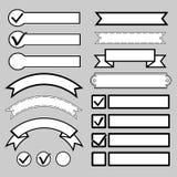 Knappar för kontrollfläck också vektor för coreldrawillustration Arkivfoton