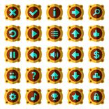 Knappar för lek för ångapunkrocklägenhet Royaltyfri Foto