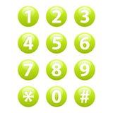 Knappar för rengöringsduk för tecken för rengöringsduktelefonsymbol Arkivbilder
