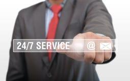 Knappar för 24/7 service, yrkesmässigt klicka Royaltyfri Bild