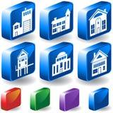 knappar för byggnad 3d Arkivfoto