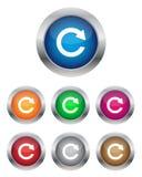 knappar förnyar Fotografering för Bildbyråer