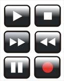 knappar kontrollerar remoten Arkivfoto