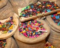 Knappar och modetillbehör som göras från grönsakelfenben Royaltyfri Foto