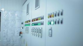 Knappar panel i modern fabrik stock video
