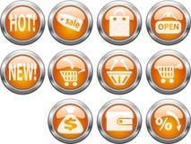 knappar shoppar Fotografering för Bildbyråer