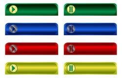 knappar som fäster rengöringsduk för illustrationbanavektor ihop Royaltyfri Fotografi