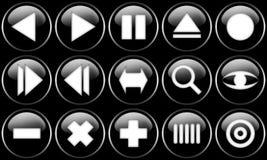 knappar ställde in rengöringsduk Arkivbilder