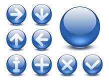 knappar ställde in rengöringsduk Royaltyfria Bilder