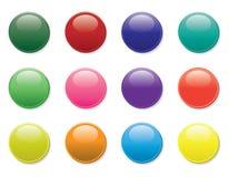 knappar ställde in tolv Arkivbilder