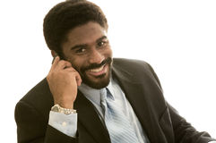 Knappe Afrikaans-Amerikaanse mens in kostuum royalty-vrije stock afbeelding