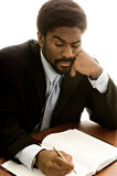 Knappe Afrikaans-Amerikaanse zakenman Royalty-vrije Stock Foto