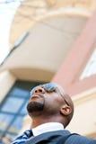 Knappe Afrikaanse Amerikaanse Zaken royalty-vrije stock afbeelding