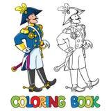 Knappe algemeen of ambtenaar Kleurend boek stock illustratie