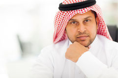 Knappe Arabische zakenman stock foto's