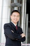 Knappe Aziatische bedrijfsmens Royalty-vrije Stock Foto