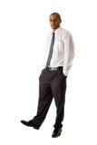 Knappe bedrijfsmens status Stock Foto's