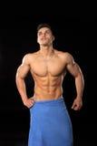 Knappe bodybuildermens Royalty-vrije Stock Foto's