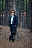 Knappe bruidegom Royalty-vrije Stock Foto