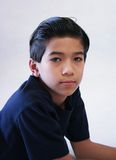Knappe elf jaar oude jongens royalty-vrije stock foto's