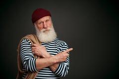 Knappe geïsoleerde zeeman zeeman Royalty-vrije Stock Afbeelding