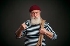 Knappe geïsoleerde zeeman zeeman Royalty-vrije Stock Afbeeldingen