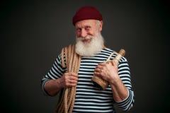 Knappe geïsoleerde zeeman zeeman Stock Afbeeldingen