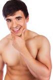 Knappe glimlachende mens Stock Foto's