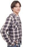 Knappe glimlachende tiener Stock Foto