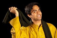 Knappe Indische mens royalty-vrije stock fotografie