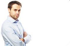 Knappe jonge bedrijfsmens royalty-vrije stock afbeelding