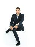 Knappe jonge bedrijfsmens Stock Foto's