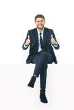 Knappe jonge bedrijfsmens Royalty-vrije Stock Foto