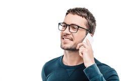 Knappe jonge mens op witte achtergrond royalty-vrije stock fotografie