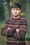 Knappe jonge mens in sweater royalty-vrije stock foto