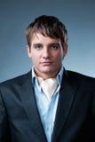 Knappe jonge zakenman Royalty-vrije Stock Foto's