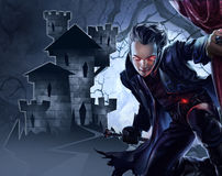Knappe mannelijke vampier Stock Afbeelding