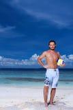 Knappe Mens in de Maldiven Royalty-vrije Stock Afbeeldingen