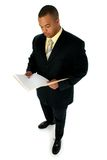 Knappe Mens in Zwart Kostuum Royalty-vrije Stock Foto's