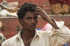 Knappe Nepalese mens Royalty-vrije Stock Foto's