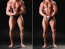 Knappe spierbodybuilder Royalty-vrije Stock Foto's