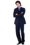 Knappe succesvolle bedrijfsmens Royalty-vrije Stock Afbeelding
