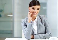 Knappe werkgever royalty-vrije stock afbeelding