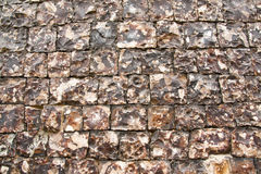 Knapped Flint Wall  Royalty Free Stock Photos