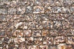 Knapped Flint Wall royalty free stock photos