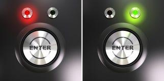 knappen skriver in Fotografering för Bildbyråer